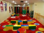 The indoor children's club , where every morning children meet to play