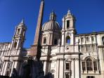 piazza Navona one step from the home