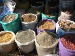 Variety of nuts & dried pulses also available in the souk.