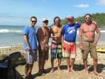 Yours truly with some close friends, good surfers.