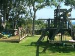 The climbing frame and decking
