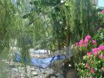 Hammock area in villa garden, area to sit and read and relax in peace