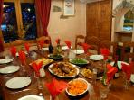 Dining room on roast night
