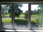 Enjoy views of Glasgow Green from both the living room and double room.