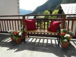 Relax on the terrace on a summer day