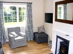 Sitting Room with Wood Burner, Flat Screen T.V. and DVD Player and HiFi