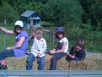Free tractor ride for families with children