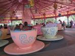 Anyone for tea?  Riding the teacup - Disney's Magic Kingdom