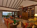 The Spacious Living Room at Red Fox with Extensive Library