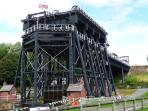 You can reach the Anderton Boat Lift and take 'Gloria' onto the River Weaver