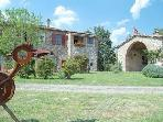 Beautifully restored farmhouse in Pari, Tuscany, features private garden and pool, sleeps 7