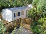 French Riviera mobile home with deck, jacuzi and pool access