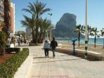Beach 100 yards away ...and the Ifach!!