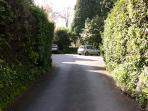 Entrance to the drive and private parking