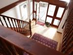 Spacious entrance hall at Wagtail Cottage