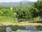 The garden with view over the Drôme hills