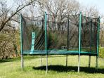 The large trampoline can be enjoyed by all ages!