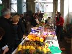 Clamecy fresh produce market