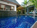 Crystal-clear plunge pool.