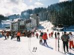 People skiing in Pamporovo.