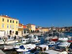 Rovinj harbour. Just 200m from the apartment,