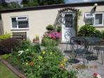 Main garden patio and entrance to Garden Studio. Secure parking right outside Studio.