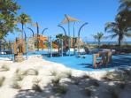 Children' play area at newly designed beachfront