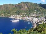 View of soufriere town just a 10 minute drive away