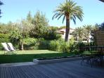 Antibes holiday apartment with private garden