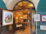 Art exhibition in ancient village of Gassin