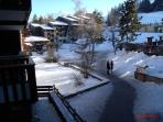 View from balcony in the winter