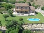 House, garden and swimming pool