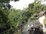 Balcony overlooking the River Camel