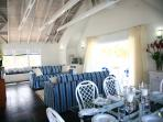 and from the dining area