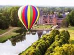 Take a hot air balloon ride to truely appreciate the french countryside
