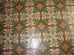 Antique floors are original 1915 artisan tiles - hand poured cement that look new after 100 years!