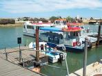 Take a ferry or water taxi to the Island