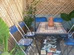 Table on roof terrace