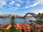 Stunning harbour, city & Opera House Views