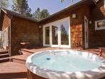 New hot tub with river views, Columbia Street Vacation Rentals, Bend Oregon