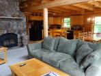 Spacious Log Home on Newfound Lake - semi private access to 110 foot shorefront - 4 Season