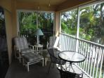 The 'inland' side of the lanai.