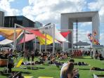 In Summer time at La Defense