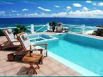 PARADISO... spacious and oh so comfortable 5 BR hillside villa, huge blue views!!