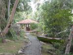 The path to the cabana