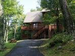Ski Acres Place a 3 level log cabin with great view on Appalachian Ski Mtn.