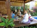 Learn how to make traditional Balinese offerings, followed by a visit to the Temple for a blessing