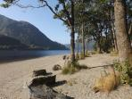 Beach nearby at Loch Lubnaig