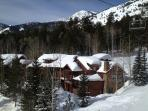 Ski in and out from this private community at the base of Jackson Hole!