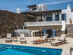 Orpheus-Sea view villa in Panormos with pool